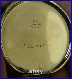 Rare Election WWII Pilot's black dial Art-Deco open face pocket watch c1937