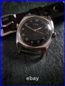 Rare Lemania Majetek Watch Issued Wwii Military Czech Pilot Spravy Cal 3050