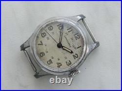 Rare Military WW2 Pilot's Longines circa 1943 Central second Stop Second watch
