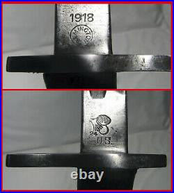 Rare Miss-stamped 1918 US P1917 P17 Remington Bayonet 2nd Pattern Scabbard