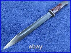 Rare Original German Ww2 K98 Matching Numbers Cul 1943 Bayonet And Scabbard