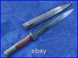 Rare Original German Ww2 K98 Matching Numbers Ffc 1944 Bayonet And Scabbard