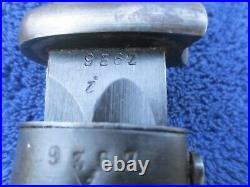 Rare Original German Ww2 K98 Matching Numbers Jwh 1942 Bayonet And Scabbard