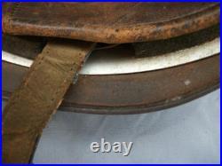 Rare Original German Wwii Fallschirmjager (paratrooper) M38 Helmet Green Camo