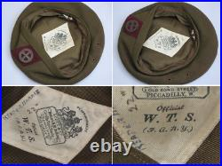 Rare Original SOE WWII F. A. N. Y Womens Transport Service Beret and Badge