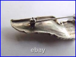 Rare Original Usaaf Ww2 Luxenberg Army Air Pilot Wings Sterling Silver Pin Back