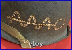 Rare Original WW2 39th Infantry Regiment Painted Officers Helmet