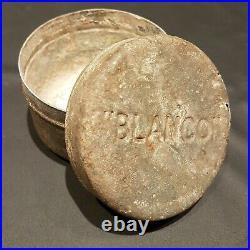 Rare Original WW2 British Blanco Equipment Cleaner Tin Joseph Pickerings