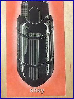 Rare Original WW2 Propaganda Leaflet No. 2013 Japanese Surrender Color Bomb