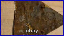 Rare Original WWII GERMAN WW2 SIGN Skull Bones GERMAN (Eastern Front)