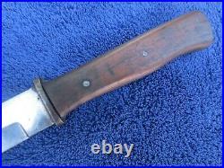 Rare Original Ww2 German Trench Knife Dagger And Scabbard