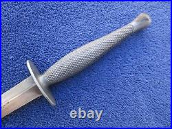 Rare Original Ww2 Usmc Raider Knife Dagger Stiletto And Leather M6 Milsco Sheath