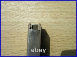 Rare Unnumbered T-14 Nickel Plated Wwii Magazine Japanese Type 14 Nambu 8 Rd