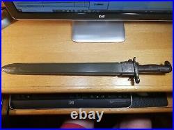 Rare WW II US 16 Garand Bayonet 1942 (AFH) with Scabbard