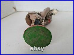 Rare WW2 Antique Cold Painted Bronze Adolf Hitler Pin Cushion Figure 1940's