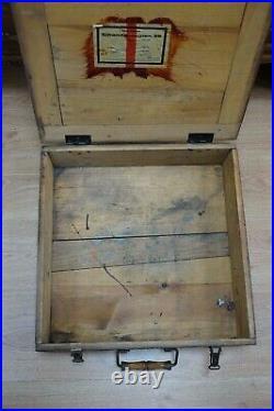 Rare WWII 1941 German Military Field Eggs Wooden Ammo Box Crate Case Eihandgr. 39