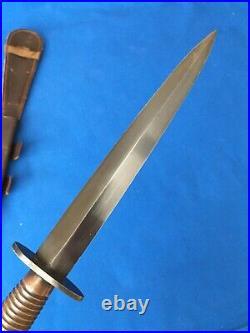 Rare WWII 3rd pattern /\21 British Fairbairn Sykes F-S Commando Fighting Knife