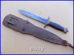 Rare WWII Frank Richtig Fighting Knife Dagger with Cornish Sheath