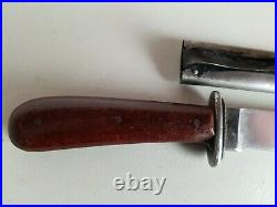 Rare WWII German la Gusstahl Puma Boot Fighting Knife withScabbard