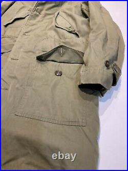 Rare WWII US Army Overcoat Parka Sheepskin Lined Limited Issued Until Exhausted