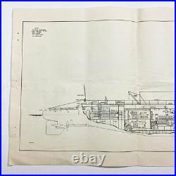 Rare WWII USN'RESTRICTED' 1942 Dated US Navy Typical Submarine Blueprint