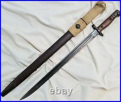 Rare Ww1 & Ww2 Australian Issued Wilkinson 303 Rifle Bayonet Scabbard Sword Army