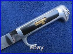 Rare Ww2 Original Italian Mvsn Fascist Dagger Scabbard And Chain Hanger