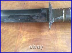 Rare Wwii U. S. M. C. Robeson Shuredge Fighting Knife W Sheath