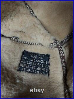 Rare Wwii Usaaf B2 Leather Hat Werber Sportswear Size 7 3/8