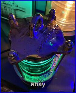 Restored Rare World War II U. S. Navy Signal Light Brass U. S. N. Emerald Green