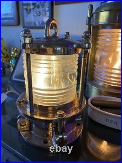 Restored Rare World War II U. S. Navy Signal Light Brass USS BIRMINGHAM CL. 62