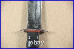 SUPER RARE WWII USMC 1st USMC RED SPACER KA-BAR FIGHTING KNIFE WithSHEATH