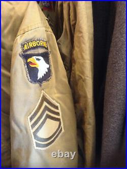 Super Rare Ww2 501st Pir 101st Airborne 1st Mod M-41 Jacket