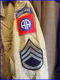 Super Rare Ww2 508th Pir 82nd Airborne M-41 Jacket
