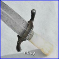 THE UTICA Co Czechoslovakia pre-WW2 mother of pearl handle garter dagger rare
