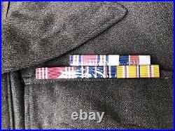 U. S. WW2 Uniform Ike Jacket Grouping CBI Named RARE Theater Made Patches