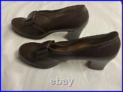 US WWII USMCWR BAM Women Bow Leather Pump Shoes Size 9 1/2 RARE