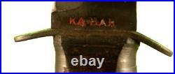 USMC KA-BAR COMBAT / TRENCH KNIFE WWII ORIGINAL RARE FIND ref 2974K