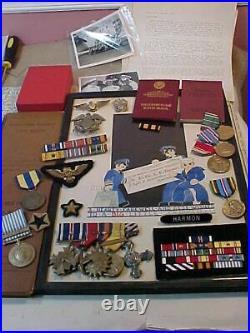 Ultra Rare Wwii Usn Pilot Lot Awarded Us & British Dfc / Russian Og3 U966 Battle