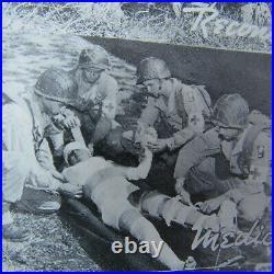 VERY RARE WW2 70th Div MAJORS PAINTED M1 HELMET WithORIG ARTILLERY CAMO NETTING