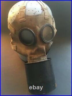 VERY RARE WWII Original RKKA Soviet GP-2 civil gas mask Stamp 1944