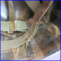 Very Rare 100% Orig Ww2 D Day Normandy Usn Navy Painted Grey Band M1 Helmet Name