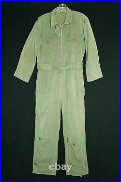 Very Rare Collectable Vintage 1930's-1940's Wool Gab Wwii Era Flying Suit Sz Med