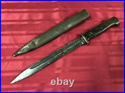 Very Rare Original German Ww2 K98 Matching Numbers Mundlos Bayonet And Scabbard