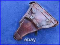 Very Rare Original Ww2 Finnish Remake Luger Holster And Stock With Key And Rod