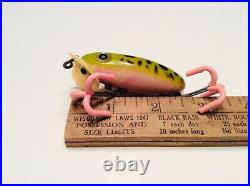 Vintage Fishing Lure (WW2 Arbogast Jitterbug) Hard To Find Rare Pink Belly