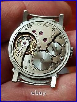 Vintage Omega Steel Watch Cal. 26.5 SOB T2 All Original Rare Model 1938 WWII era
