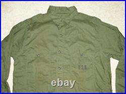 Vintage RARE 40s USN US Navy Olive GREEN WW2 Work SHIRT USN Sz. 16