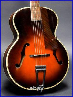 Vintage RARE WWII 1943 Harmony Marvel Leader 3936H968 Archtop/Case near mint