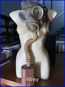 Vintage & Rare Australian Army Gas Mask Ca 1939-42 Made By Willow Complete